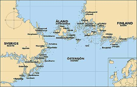 Coveralandislands - Aland islands political map